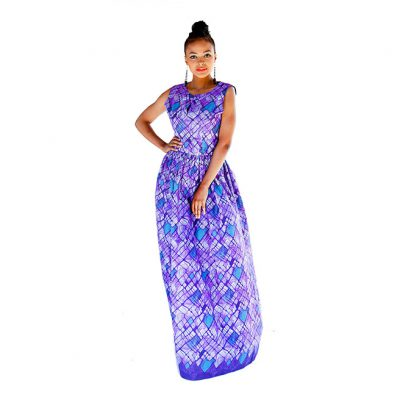 BATIK GATHERED MAXI DRESS