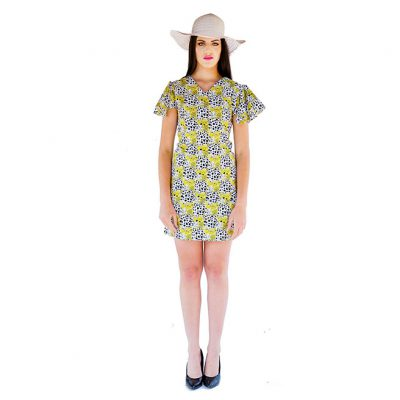 AFRIK FLARED SLEEVE DRESS